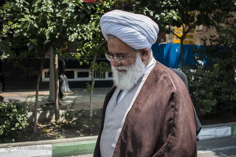 حضور حجتالاسلام علیاکبر رشاد رئیس شورای حوزههای علمیه استان تهران در راهپیمایی روز جهانی قدس ۹۸ تهران