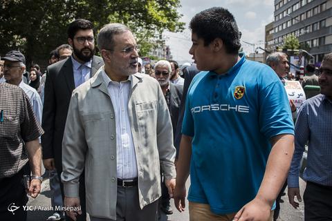 حضور سیدمحمدبطحایی وزیر آموزش و پرورش در راهپیمایی روز جهانی قدس ۹۸ تهران