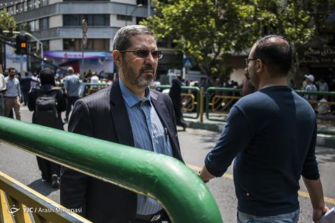 حضور سردار تقی مهری رئیس سازمان وظیفه عمومی ناجا در راهپیمایی روز جهانی قدس ۹۸ تهران