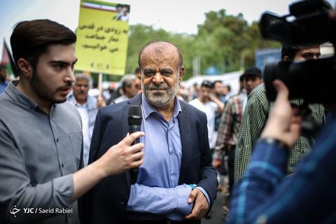 حضور سردار رستم قاسمی مشاور عالی وزیر دفاع در راهپیمایی روز جهانی قدس ۹۸ تهران