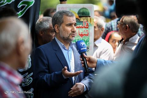 حضور محسن اسماعیلی عضو مجلس خبرگان رهبری در راهپیمایی روز جهانی قدس ۹۸ تهران
