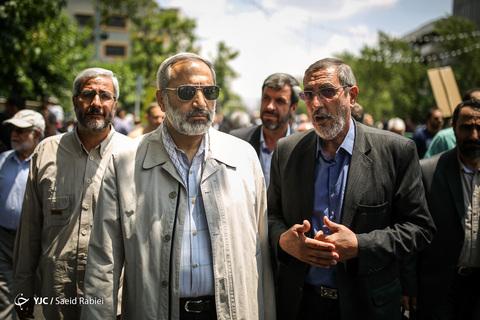 حضور سردار محمدرضا یزدی فرمانده سپاه محمدرسول الله تهران بزرگ در راهپیمایی روز جهانی قدس ۹۸