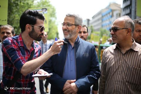 حضور سردار غلامحسین غیبپرور رئیس سازمان بسیج مستضعفین در راهپیمایی روز جهانی قدس ۹۸ تهران