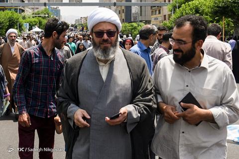 حضور حجتالاسلام قاسمیان در راهپیمایی روز جهانی قدس ۹۸ تهران