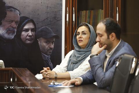 شیوا ابراهیمی بازیگر در نشست خبری سریال برادرجان