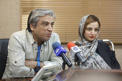 ندا جبرائیلی و محمدرضا آهنج در نشست خبری سریال برادر جان
