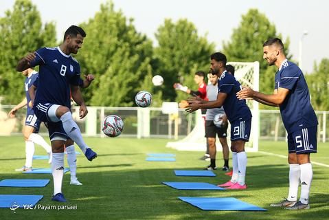 اولین تمرین تیم ملی فوتبال با مارک ویلموتس