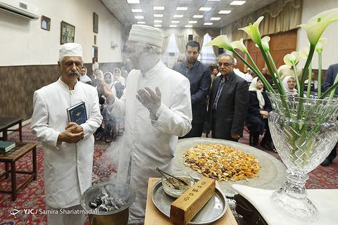 در حاشیه بزرگداشت امام راحل در نیایشگاه زرتشتیان تهران