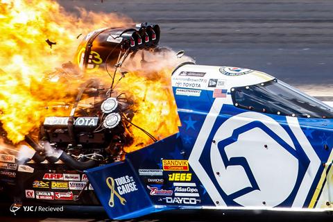 آتش گرفتن موتور آنورتر براون