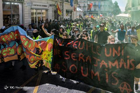 ادامه اعتراضات مردم فرانسه