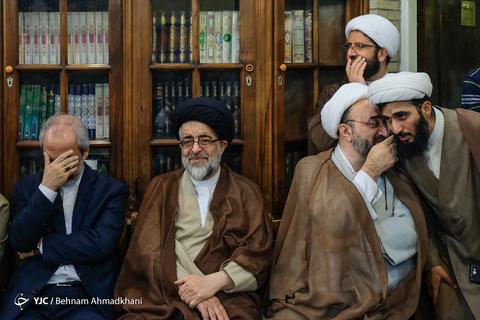 در حاشیه بزرگداشت حجت الاسلام محمد خرسند امام جمعه شهید کازرون در مسجد نور تهران