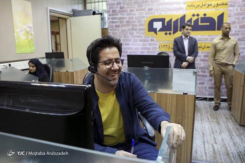 در حاشیه حضور عوامل ویژه برنامه رمضانی اختیاریه در مرکز امور مخاطبان رسانه ملی