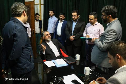 در حاشیه حضور غلامحسین اسماعیلی سخنگوی قوه قضائیه در برنامه ۱۰ ۱۰ دقیقه باشگاه خبرنگاران جوان