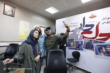 در حاشیه نشست خبری عوامل سریال رمضانی دلدار در مرکز امور مخاطبان رسانه ملی