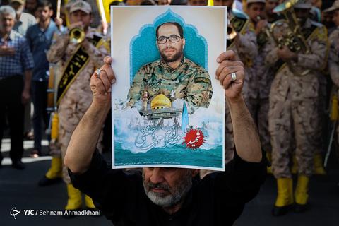 مراسم تشییع پیکر مطهر شهید مدافع حرم «محمد جنتی» معروف به «فرمانده حیدر» در تهران
