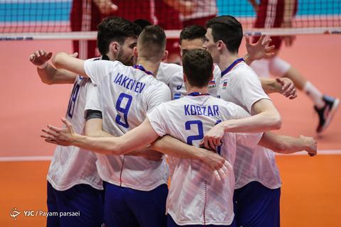لیگ والیبال ملتها/ روسیه ۳ - لهستان ۱