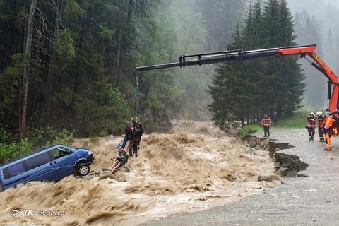 باران سنگین در سوئیس