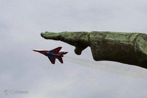 یک جنگنده MiG-29 در تمرین ارتش روسیه