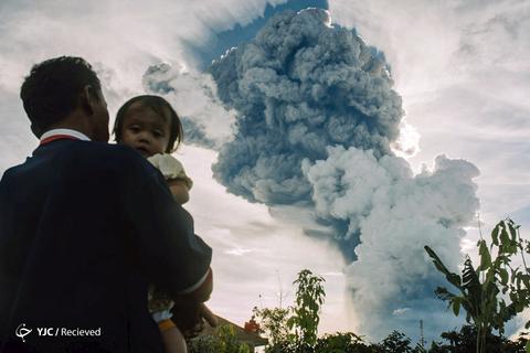 آتشفشان کوه سینابونگ، سوماترا شمالی، اندونزی