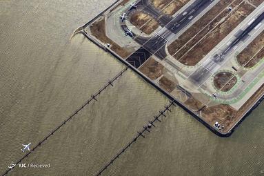 نمای هوایی از فرودگاه بین المللی سان فرانسیسکو