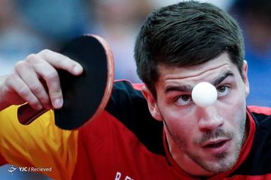 پاتریک فرانتیزاكا، از آلمان در بازی تنیس روی میز در بازیهای اروپایی در مینسک