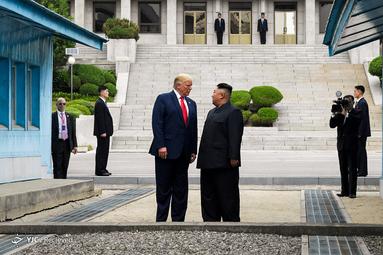 دیدار دونالد ترامپ و کیم جونگ اون در کره شمالی در مرز منطقه دمیلارییزه