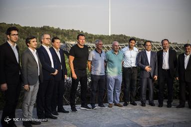 بازدید ویلموتس سرمربی جدید تیم ملی فوتبال از پارک آب و آتش
