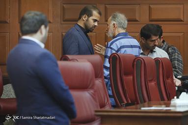 محمدعلی نجفی شهردار اسبق تهران و مسعود استاد برادر مقتول در نخستین دادگاه پرونده قتل میترا استاد