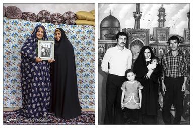 نرجس سعیدیژاد ۷۵ ساله - در سال ۱۳۵۲ با همسر، برادر و دو دختر خود به مشهد سفر کردند؛ که از آن سفر این عکس به یادگار مانده است.