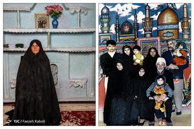 نظیره نوروزپور ۵۶ ساله - در سال ۱۳۷۳ به همراه پدر و مادر، برادرها و خانوادهیشان به مشهد سفر کردند؛ که از آن سفر این عکس به یادگار مانده است.