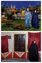 زینب سیاهبالایی ۹۳ ساله - در سال ۱۳۷۸ به همراه پسرش به مشهد سفر کردند؛ که از آن سفر این عکس به یادگار مانده است.