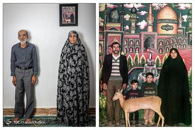 حجت نوروزپور ۶۵ ساله و همسرش مریم محمدی ۶۰ ساله - در سال ۱۳۶۱ با دو فرزند خود به مشهد سفر کردند؛ که از آن سفر این عکس به یادگار مانده است.