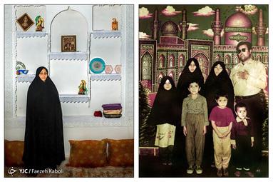 فاطمه صغری حشمتی ۴۷ ساله - در سال ۱۳۶۴ به همراه عمو و خانواده عمویش به مشهد سفر کردند؛ که از آن سفر این عکس به یادگار مانده است.
