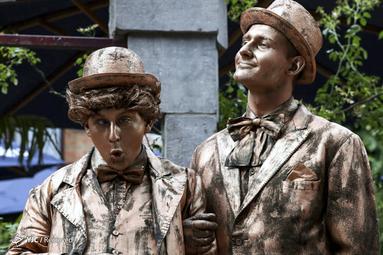 مجسمه های زنده در خیابان های بلژیک