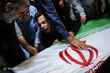 مراسم وداع با پیکر مطهر تکاور شهید مدافع وطن، سید محسن نقیبی