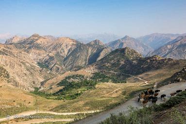 نمایی از روستای «خویه» از توابع شهرستان کوهرنگ