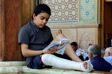 مراسم پرفیض دعای عرفه در حرم احمد این موسی (ع) شیراز