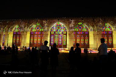 نورپردازی سه بعدی در ارگ کریمخان شیراز