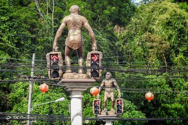 چراغ راهنما در استان کرابی تایلند