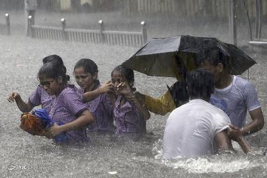 باران در بمبئی هند