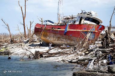 طوفان دوریان در بندرگاه بزرگ آباکو