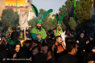 شبه کاروان ورود امام حسین(ع) به دشت کربلا