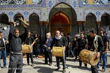 عزاداری تاسوعای حسینی در میدان امام حسین(ع) تهران