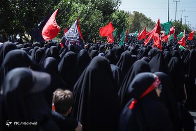 عزاداری ظهر تاسوعای حسینی دانشگاه امام صادق(ع) در سعادت آباد تهران
