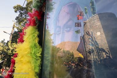 عزاداری تاسوعای حسینی در روستای انجدان