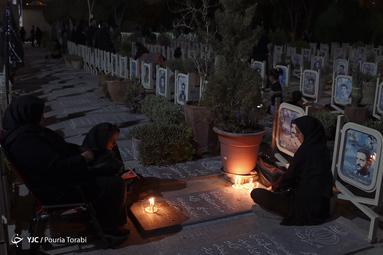 شام غریبان حسینی در گلزار شهدای اصفهان