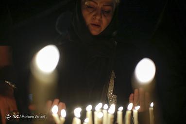 شام غریبان حسینی در میدان امام حسین (ع) تهران