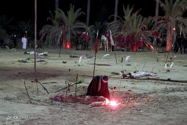 شام غریبان حسینی در روستای دمشهر شهرستان میناب