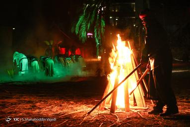 بیست و یکمین «سوگواره شب غریبانه» همزمان با شام غریبان اباعبدالله(ع) با اجرای تعزیه و نمایش میدانی در حکیمیه تهران