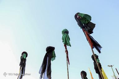 مراسم نمادین جرکت کاروان اسرای کربلا در قم